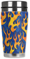 Blue Flames Travel Mug