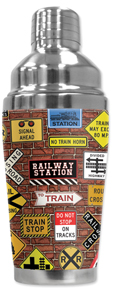 Train Signs Cocktail Shaker