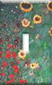 Klimt - Sunflowers Switch plate