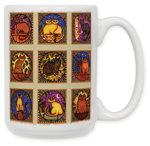 Mosaic Cats Coffe Mug