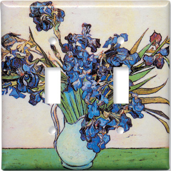 Van Gogh - Vase & Irises switchplate