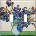 Van Gogh - Vase & Irises switch plate