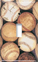 baseballs switch plate