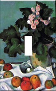 Cezanne - Apples and Primroses Switch Plate