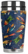 Travel Mug - Fly Fishing Lures