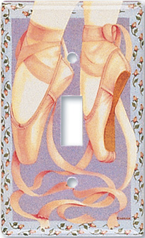 Ballet Toe Shoes Switch Plate