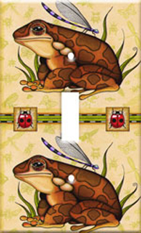 Brown Frogs Switch Plate