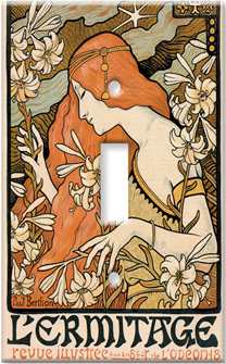 Mucha - L'Ermitage Switch Plate