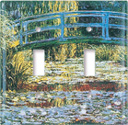 Monet: Japanese Footbridge  Switch Plate