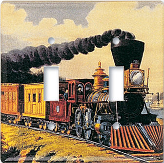 Currier & Ives: Express Train Switch Plate