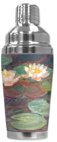 Cocktail Shaker - Monet: Water Lilies (close up)
