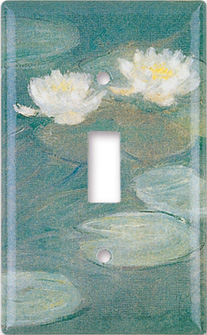 Monet: Water Lilies (close up) Switch Plate