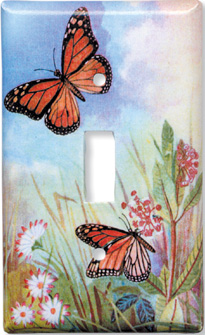 Butterflies and Flowers Switch Plate