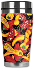 Red & Yellow Peppers Travel Mug