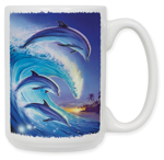 Dolphins in the Wave Coffee Mug