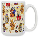 Jazz Cats Coffee Mug