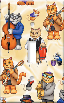 Jazz Cats Art Plate