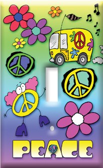 Peace Switch Plate