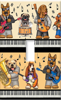 Musical Dogs Art Plate