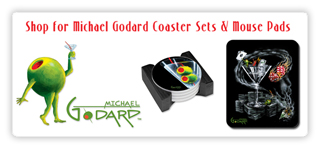 Michael Godard gift items, coasters, mouse pads